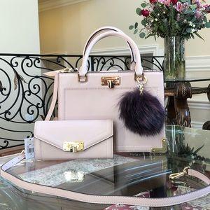3pcs NWT Michael Kors Kinsley satchel&wallet&pom